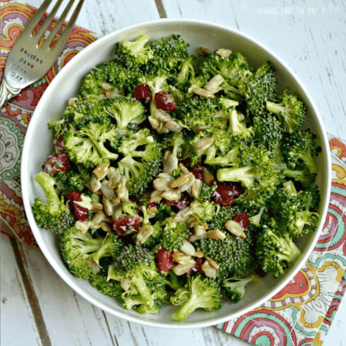 Vegan Broccoli Salad with Cranberries