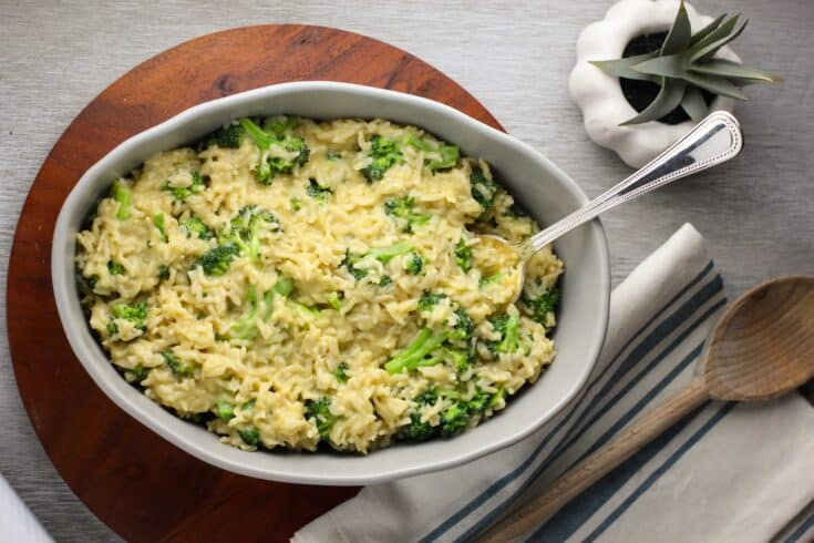 "Vegan ""Cheesy"" Broccoli and Rice"
