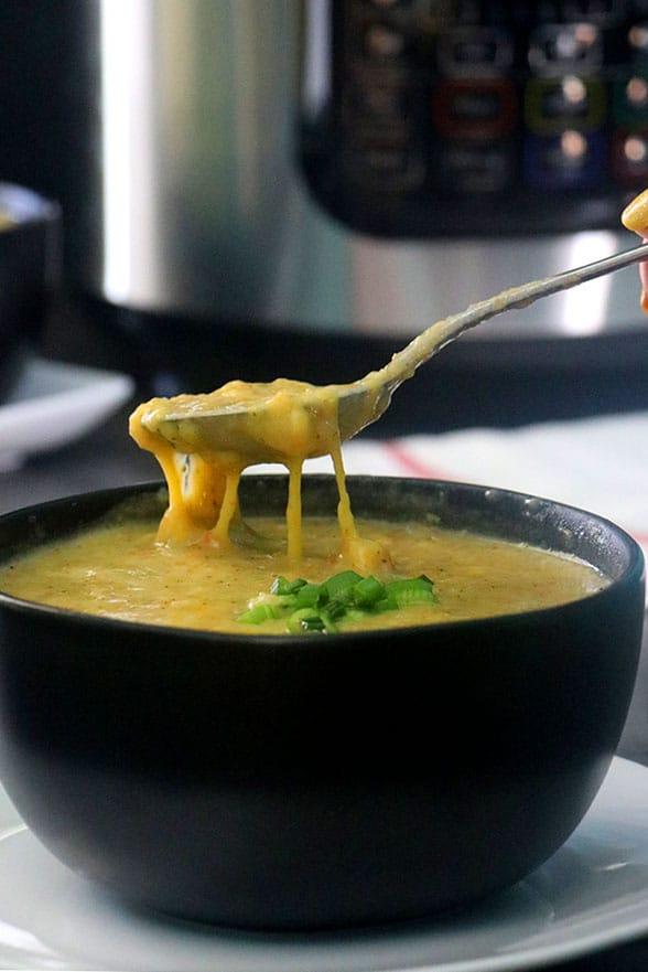 Cozy Vegan Pressure Cooker Broccoli Cheese Soup