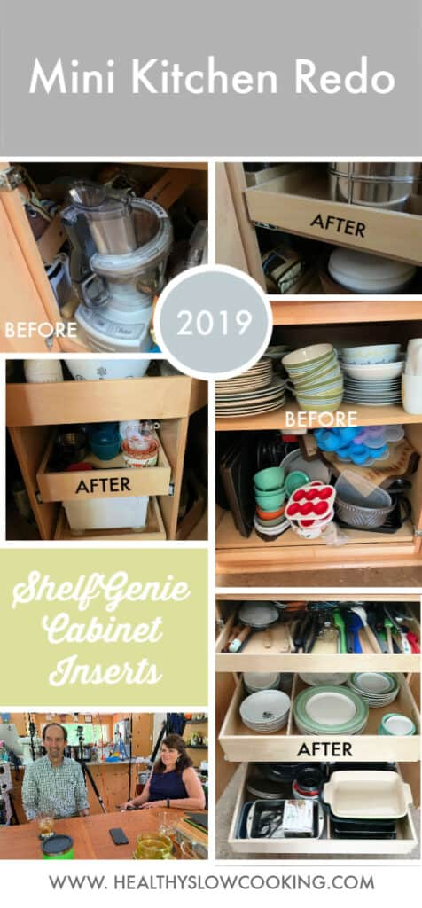 I want to share my new ShelfGenie cabinet inserts with you. It may not be a new recipe, but having an organized kitchen makes it so much easier to cook everyday!