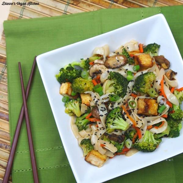 Tofu and Shirataki Noodle Stir-Fry