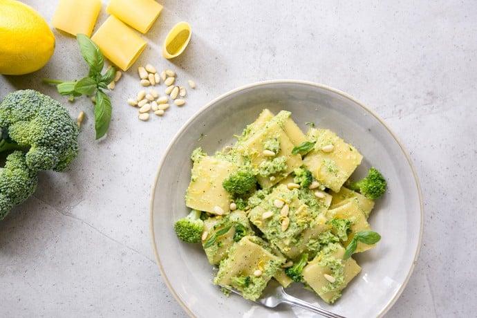 Broccoli Pesto Pasta {Vegan}