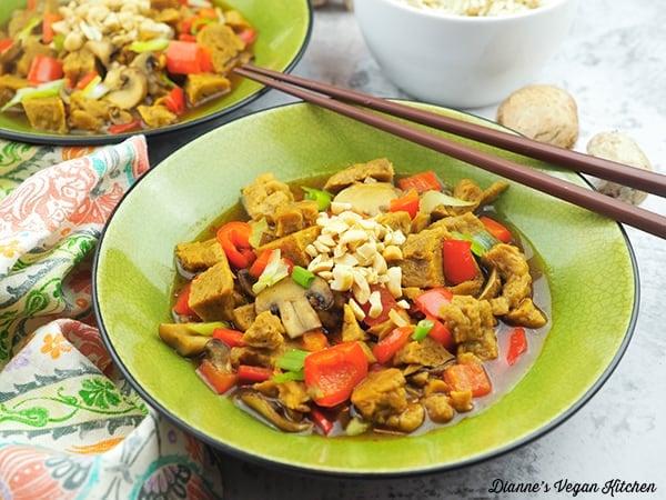 Vegan Slow Cooker Kung Pao