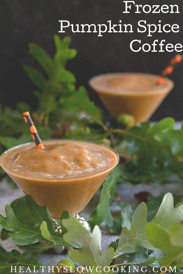 Frozen pumpkin spice coffee