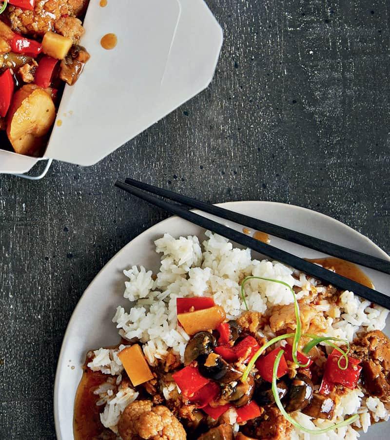 Slow Cooker Kung Pao Cauliflower