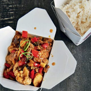 Slow Cooker Kung Pao Cauliflower